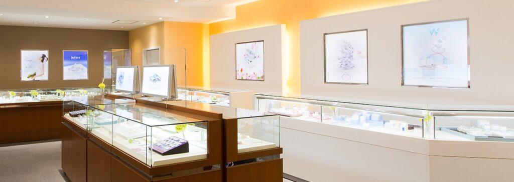 香川県の結婚指輪・婚約指輪専門店Towageの店内- 岡田時計店|香川県丸亀市の時計・ジュエリー・結婚指輪・婚約指輪・ジュエリーリフォーム